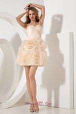 Flowers Skirt Straps Short Prom / Homecoming Dress
