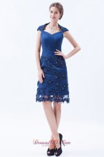 Wrap Column Embroidery with Beading Prom Dress
