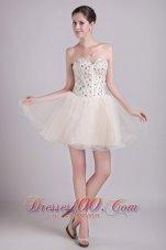 Boning Details A-line Short Beading Prom Cocktail Dress