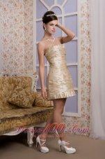 Column Mini Beading Ruch Prom Homecoming Dress
