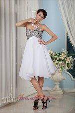 Beaded Bust Prom / Homecoming Dress Knee-length