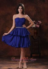 Mini Navy Dress For Prom Beaded Waist Ruching Throughout