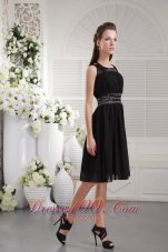 Nifty Scoop Bridesmaid Dress Knee-length Chiffon Beading