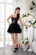 Hot Sweetheart Short Organza Ruffles Homecoming Dress