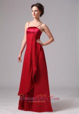 Wonderful Wine Red Mother Dress Spaghetti Straps Satin