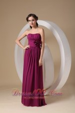 Violet Purple Prom Gown Sheath Strapless On Sale Chiffon