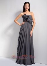 Dark Grey Homecoming Dress Strapless Chiffon On Sale