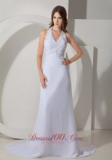 Wonderful Halter Wedding Dress Chiffon On Sale