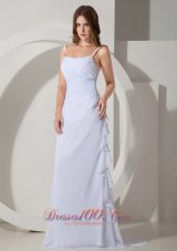 Beautiful Wedding Dress Straps Chiffon Ruched
