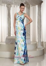 Colorful Beaded Long V-neck Prom Evening Dresses 2013