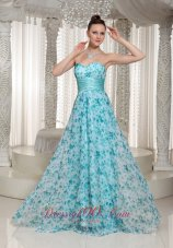 Special Printing Prom Holiday Gown Sweetheart Floor-length