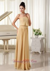 Champagne Empire Homecoming Dress Chiffon For You