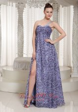 Latest Leopard High Slit Maxi Dress One Shoulder