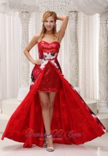 Sequin and Printing Prom Gown Sweetheart Neckline