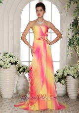 Multi-color Floral Sweetheart Maxi Gowns On Sale
