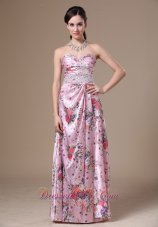 Print Beading Column Sweetheart 2013 Maxi Dress