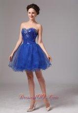 Mini Length Sequins Royal Blue Club Prom Dress