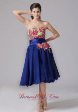 2013 Milford Connecticut Blue Appliques Decorate Sweetheart Prom Dress With Knee-length In 2013