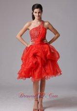 Appliques Navy Blue Sash Chiffon Knee Length Prom Dress
