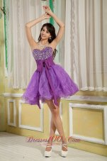 Cocktail Dress Sweetheart Mini Lavender A-line