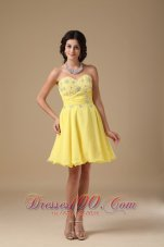 A-line Mini Floral Beading Prom Homecoming Dress Under 100