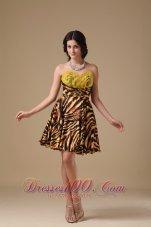Leopard Beading Prom Dress Multi-color Mini
