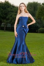 Mermaid Ruched Royal Blue Prom Celebrity Dress