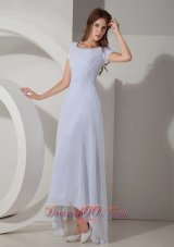 Appliques Scoop Prom Evening Dress Beaded Chiffon