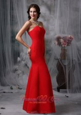 Red Evening Dress For Prom Sweetheart Chiffon