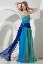 Empire Sweetheart Beading Prom Dress Floor-length Chiffon