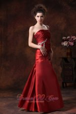 Wine Red Formal Column Evening Prom Dress