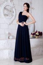 Formal Empire One Shoulder Brush Train Prom Evening Dress