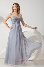 Shakiras formal attire Grey Chiffon Prom Dress