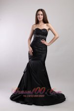 Mermaid Beading Sweetheart Court Train Prom / Evening Dress