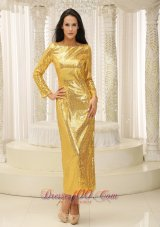 Long Sleeves Ankle-length Mother Of Bride Dress Sequined