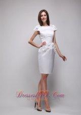 Beautiful Scoop Knee-Length White Prom Graduation Dress