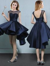 Cap Sleeves Appliques Lace Up Dama Dress for Quinceanera