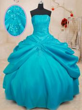 Pick Ups Red Quinceanera Gown Sweetheart Sleeveless Court Train Lace Up