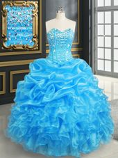Exceptional Floor Length Royal Blue Sweet 16 Dress Sweetheart Sleeveless Lace Up