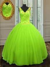 Custom Made Floor Length Quince Ball Gowns Straps Sleeveless Zipper