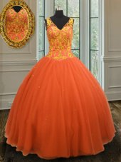Hot Sale Yellow Green Ball Gowns Beading Quinceanera Dress Lace Up Tulle Sleeveless Floor Length