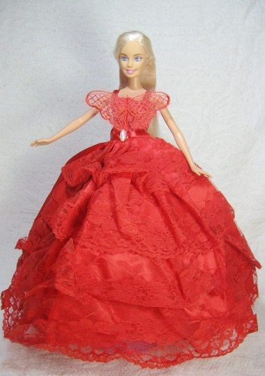 Red Quinceanera Gown Lace Dress For Barbie Doll Us 62 68