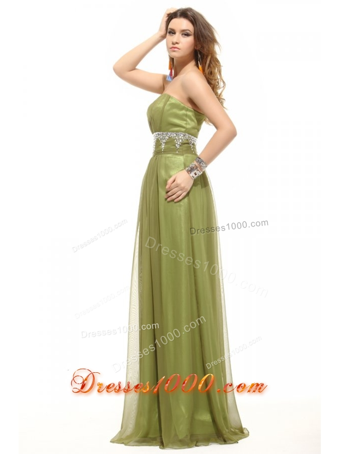 Olive Green Sweetheart Appliques Tulle Long JS Prom Dresses - US$140.39