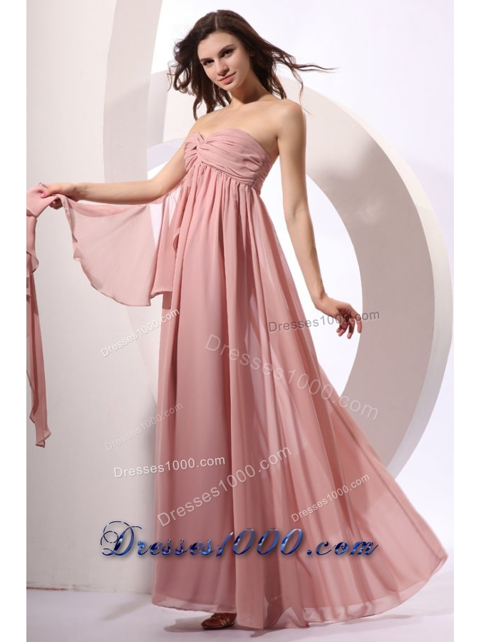 Discounted Pink Prom Dress with Ruched Bodice and Flowy Skirt - US ...