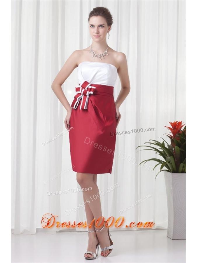 ... -strapless-red-and-white-mini-length-ruching-prom-dress-3527-4.jpg