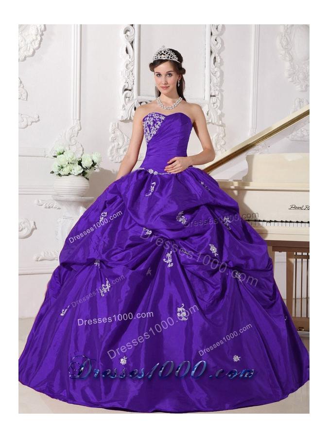 Purple Sweetheart Beading 2014 New Pick-ups Quinceanera Dress - US ...
