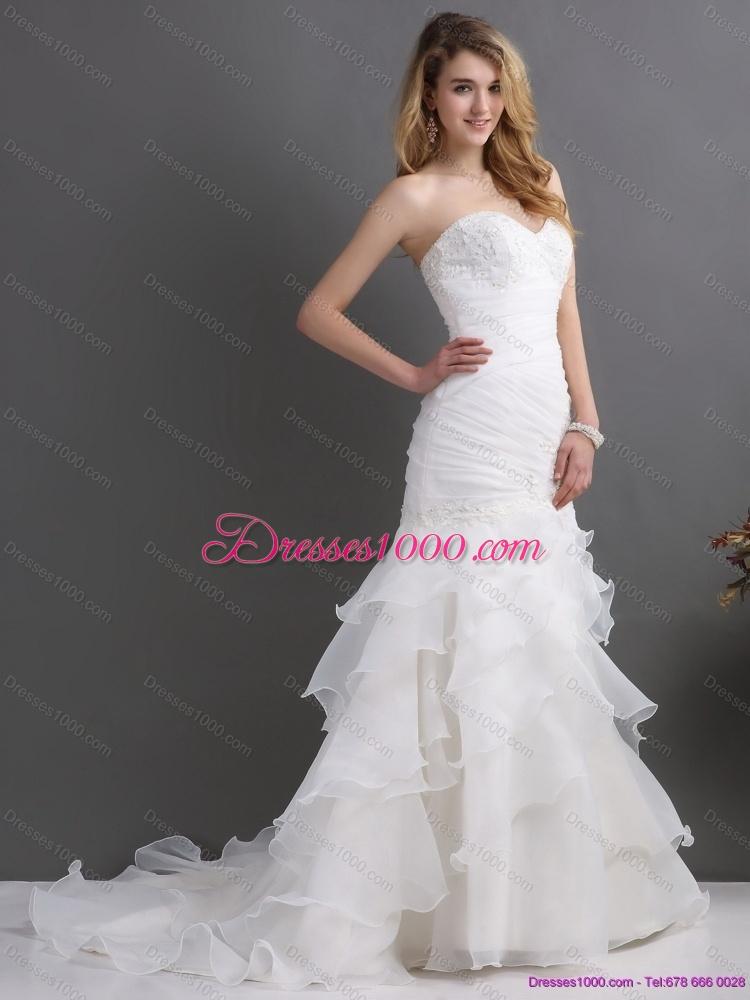 2015 modest and elegant sweetheart wedding dress with for Elegant modest wedding dresses