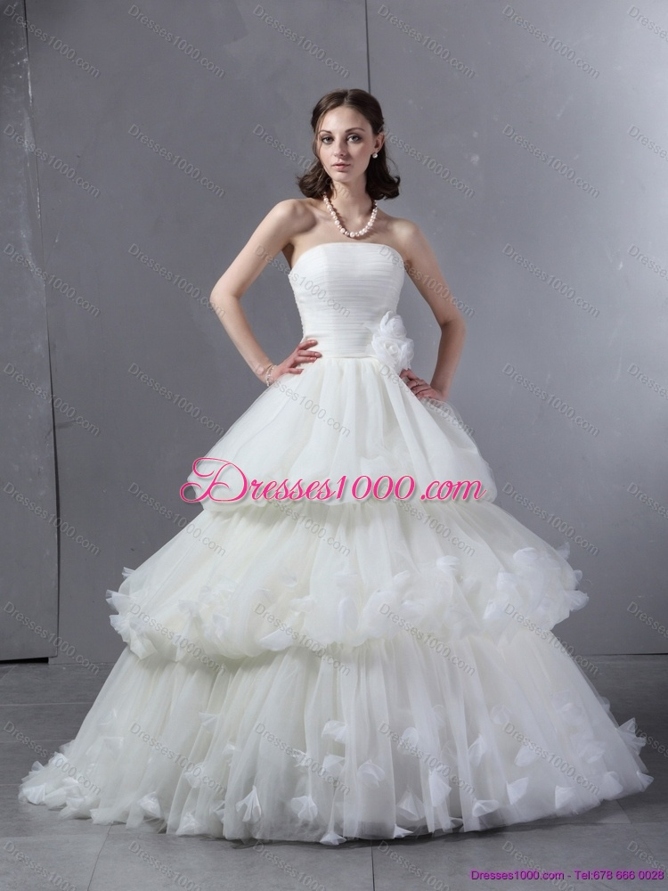 2015 top selling strapless wedding dress with ruffles and for Best selling wedding dresses