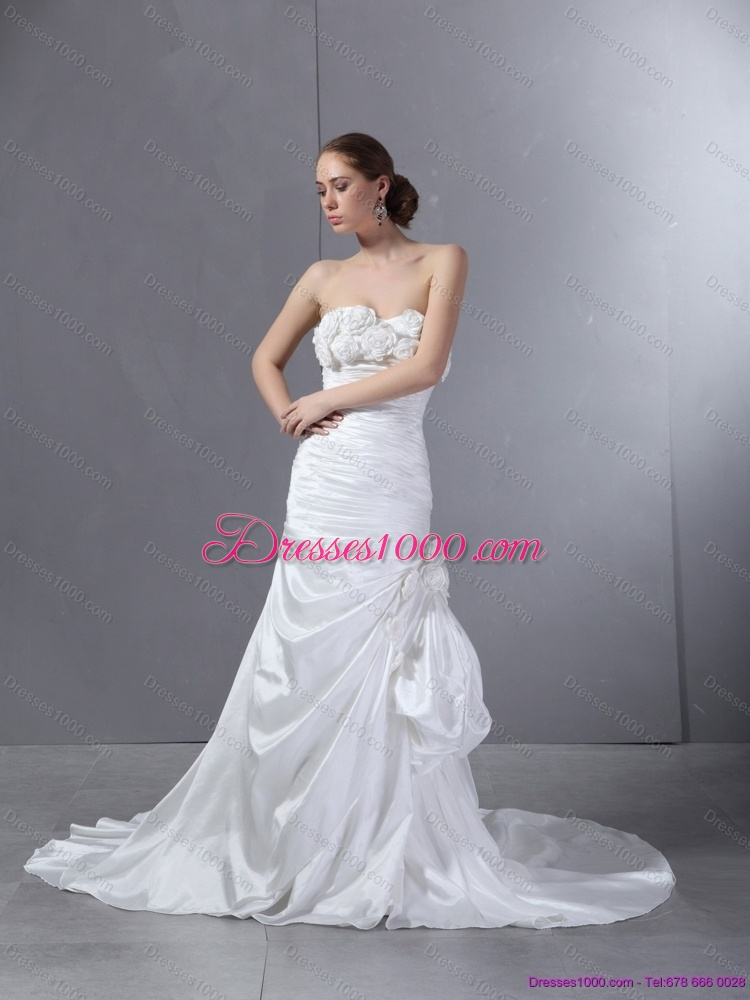 2015 top selling sweetheart wedding dress with court train for Where to sell a wedding dress
