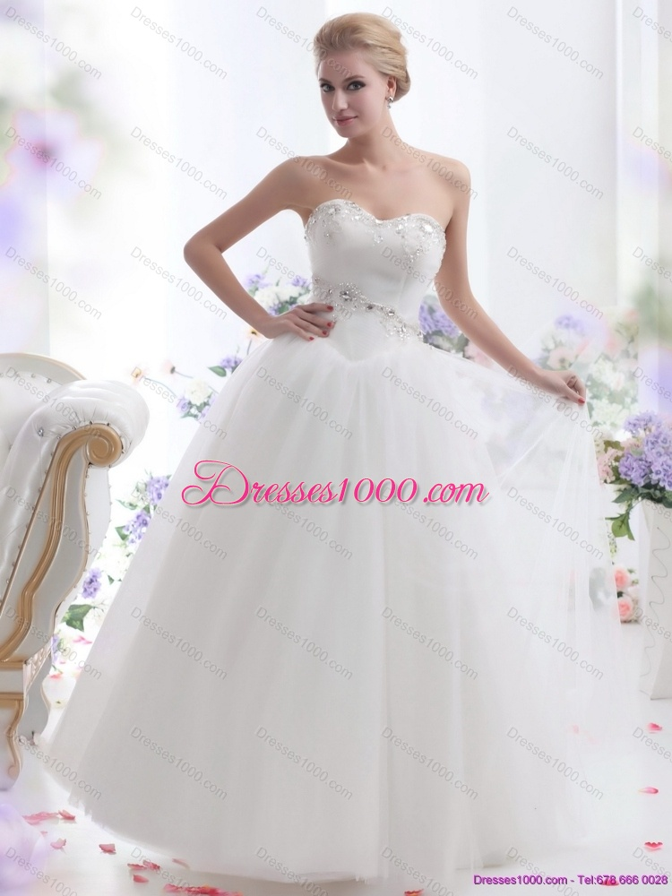 2015 Top Selling Sweetheart Wedding Dress With Paillette